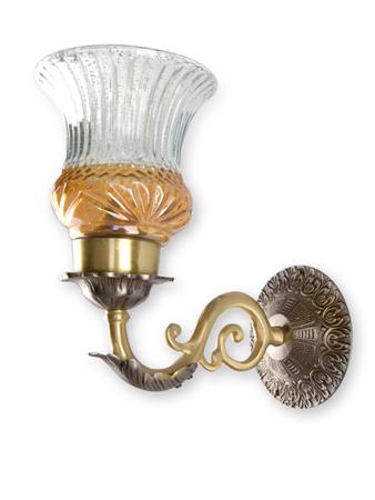 Dual Finish Luster Single Brass Wall Light