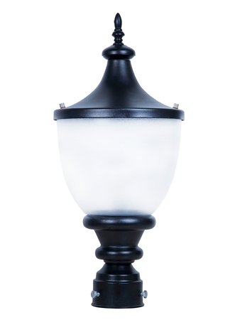 Classic Black with Frosted Acrylic Outdoor Gate Light