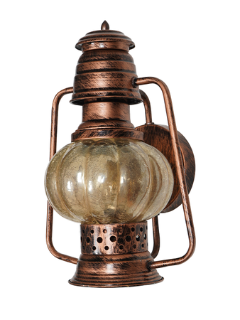 Wall Mounted Steel and Glass Lantern | Home Decor | Antique Copper Colour | Attractive Wall Light
