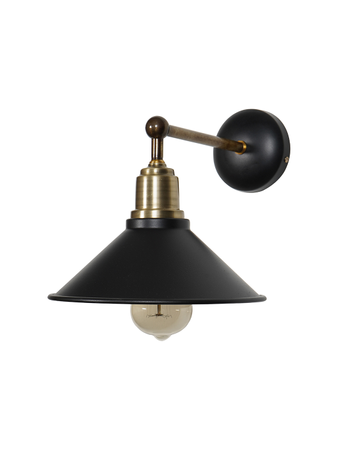 Industrial Wall Light Wall Lamp with Antique Brass and Black Finish, Classic Wall Sconce with Steel Body for Home Decor, Restaurants, etc
