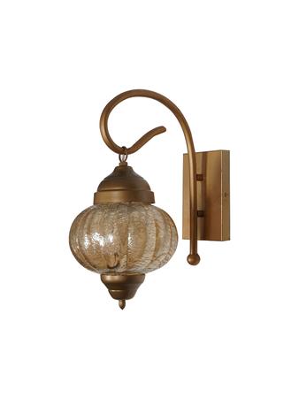 Turkish Wall Light Matt Gold Finish with Steel and Glass Decorative Classic Wall Light/Wall Lamp Lighting to Decor  E27 Holder