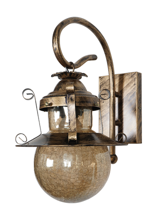 Globe Shape Antique Gold Wall Lamp in Lantern Shape Premium Quality Crackle glass Wall Light Wall Lamp with E27 Holder with Steel Base