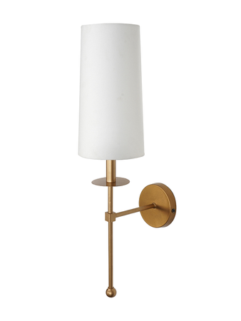 Long Wall Light Wall Lamp Matt Gold Finish with Steel Base and Fabric Conical shade Contemporary Wall Light E-27 for Home Decor (Gold Colour)