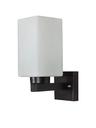 Small Wall Light and Wall Lamp Square in shape with Steel and Glass Body Wall Sconce in Black Finish