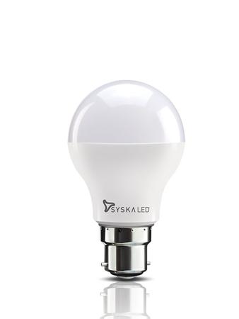 Syska B22 Base 9 Watt LED Bulb (Warm White Light)