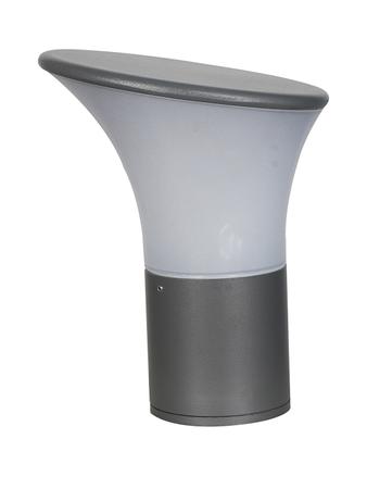 Contemporary Outdoor Gate Light in Aluminium and Bent Acrylic Shade