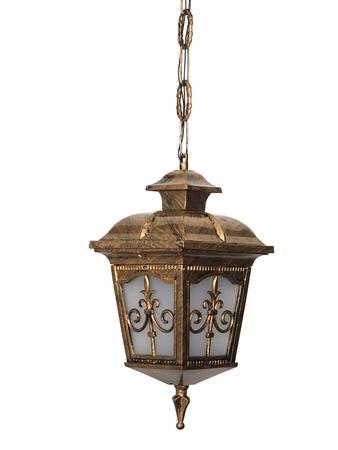 Londonderry Antique Golden Small Outdoor Aluminium Hanging Pendant Light