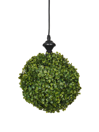 7 inches Faux Green Grass Ball Topiary Hanging Pendant Light