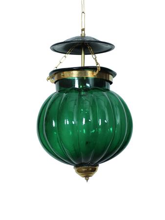 Goan Melon Handi Lantern Hanging Light - Green