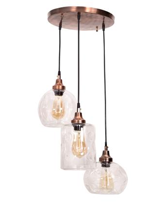 3 Drop Copper Pendant Light