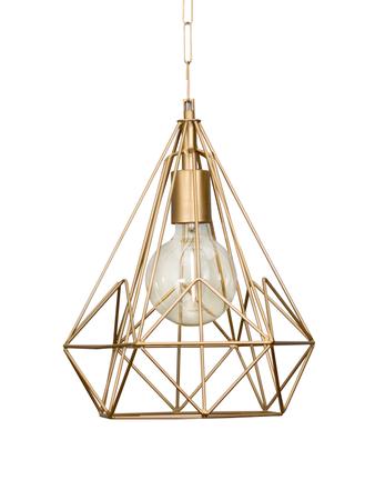 Wire Cage Diamond Golden Pendant Light