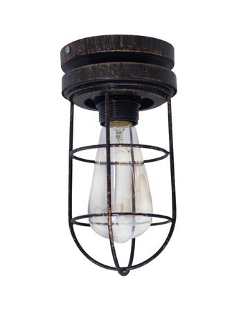 Industrical Vintage Flush Mount Ceiling Lamp