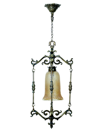 Spanish antique finished small foyer pendant lamp