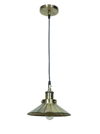Antique Brass Finished Umbrella Pendant Light