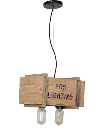 Wooden Case Warehouse Pendant Light
