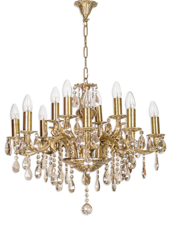 Candle Lamp 12 light honey crystal chandelier