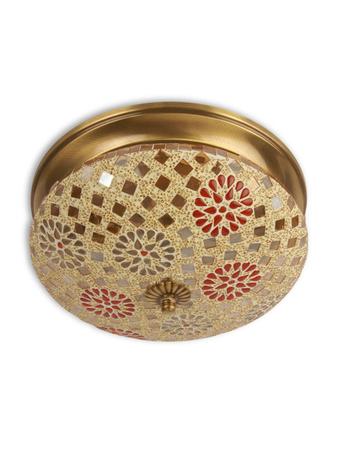 Tilak Mosaic Brass Ceiling Lamp - Small